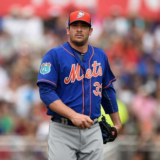 Matt Harvey #33 of the New York Mets prepares to throw a pitch during a spring training game against the Miami Marlins at Roger Dean Stadium on March 13, 2016 in Jupiter, Florida.