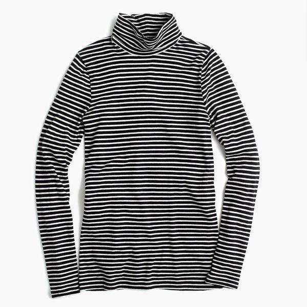 J.Crew Tissue Turtleneck T-Shirt in Stripes