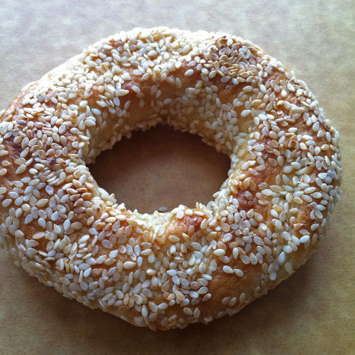 The shop's house-made bagel.