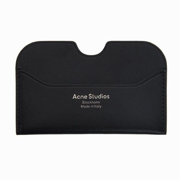 Acne Studios Black Logo Cardholder