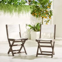 West Elm Portside Outdoor Folding Textilene Bistro Chair
