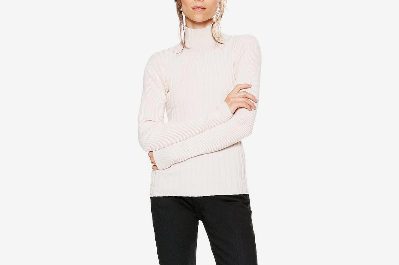 Arrow Rib Turtleneck Sweater
