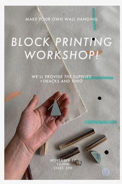 Caroline Z Hurley Block Printing Workshop