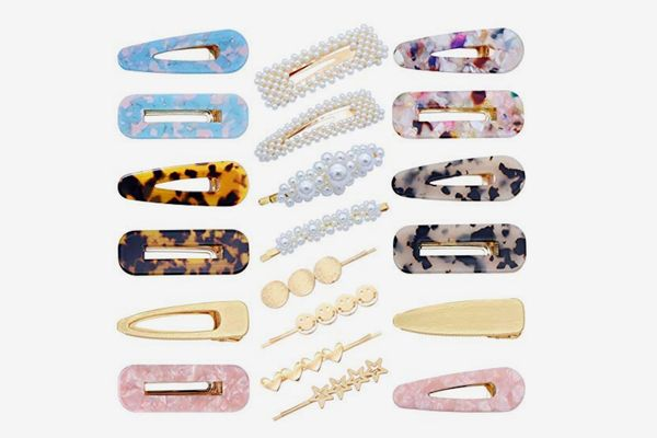 Fani 20 Piece Pearl, Acrylic, and Hollow geometic Hair Clips