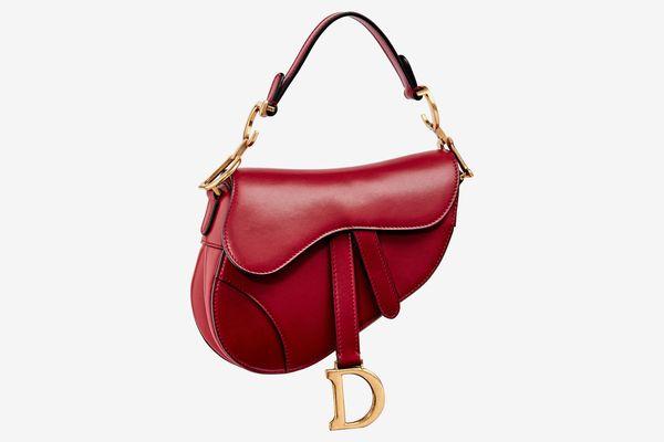Dior Saddle Bag In Red Calfskin