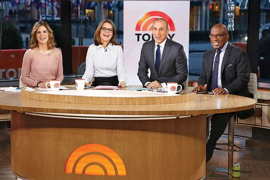 "TODAY -- Pictured: (l-r) Natalie Morales, Savannah Guthrie, Matt Lauer and Al Roker appear on NBC News' ""Today"" show -- (Photo by: Peter Kramer/NBC/NBC NewsWire via Getty Images)"