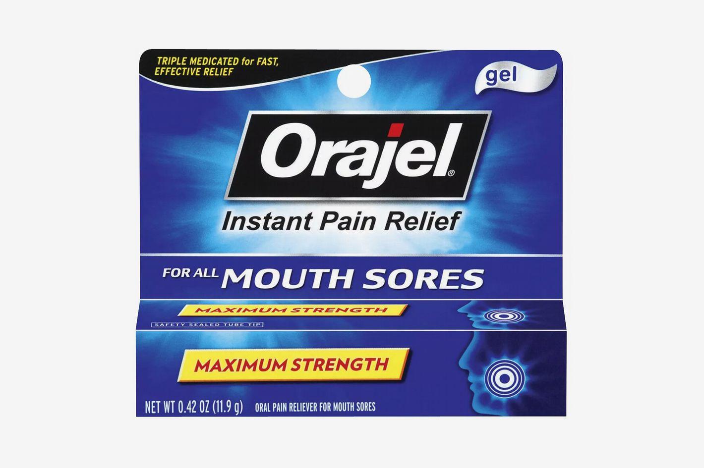 Orajel Instant Pain Relief Gel for Mouth Sores, 0.42 oz