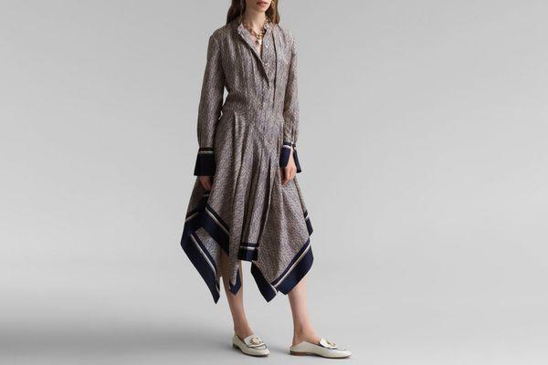 Chloé Printed Handkerchief Dress