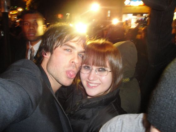 Sarah with Ian Somerhalder