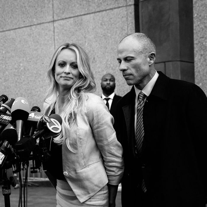 Stormy Daniels and Michael Avenatti.