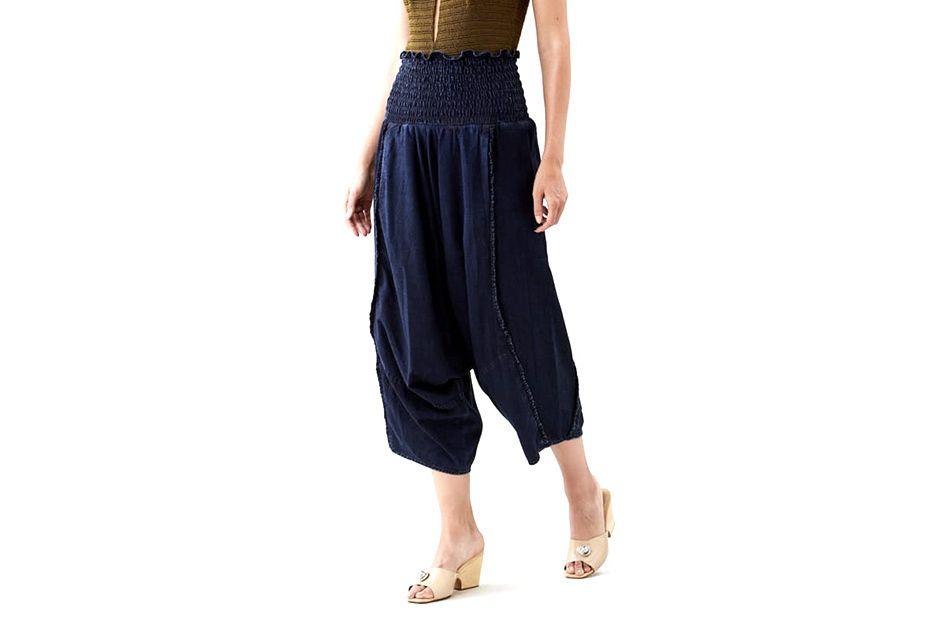 item women quality womens comforter waist in work ladies slim wear pants spring cotton harem elastic trousers high capris casual comfortable from female