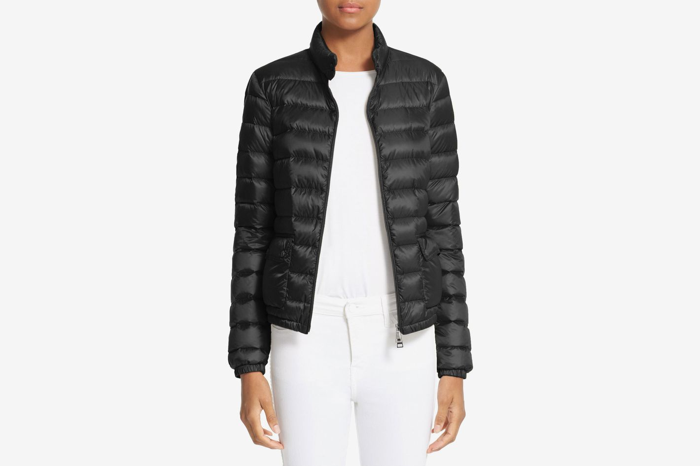 Moncler Lans Water Resistant Short Down Jacket