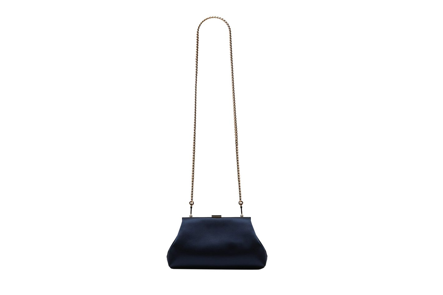 Mansur Gavriel Mini Volume Clutch, Blu Silk