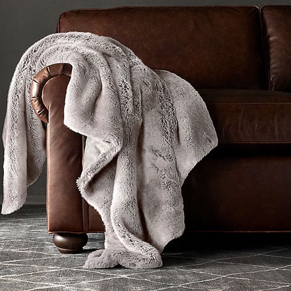 Restoration Hardware Luxe Faux Fur Throw