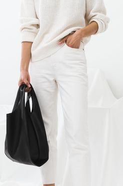Medium Baggu, Black Leather