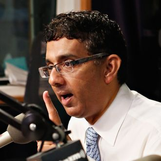 =Author/ director Dinesh D'Souza visits 'The Opie & Anthony Show' at the SiriusXM Studio on September 27, 2012 in New York City.
