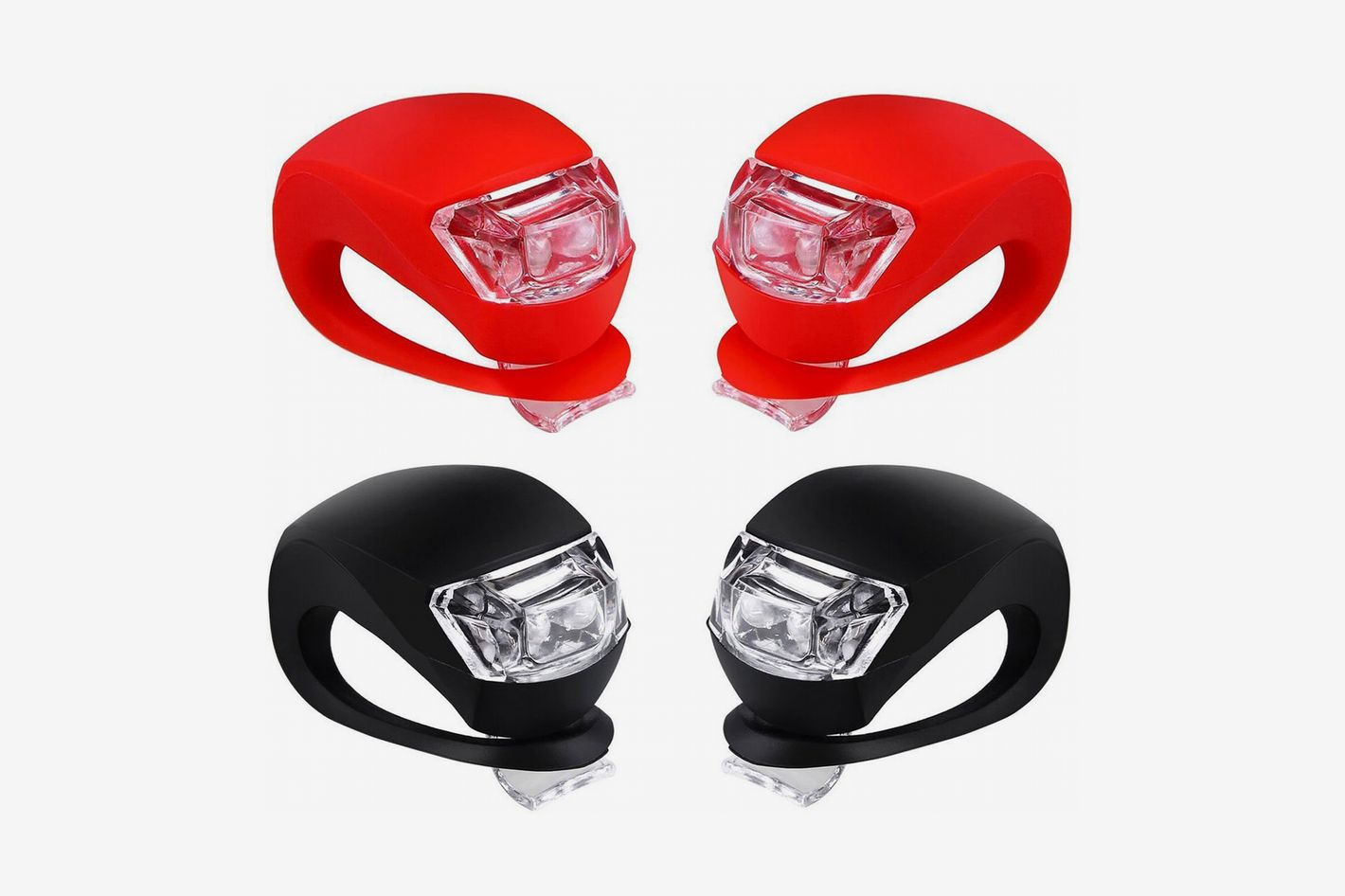 Malker Front and Rear Silicone LED Bike Light Set