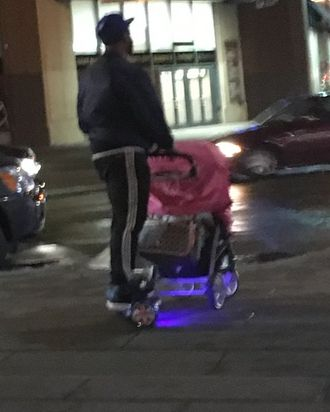 Rollin' dad style. Photo: Jessica Roy