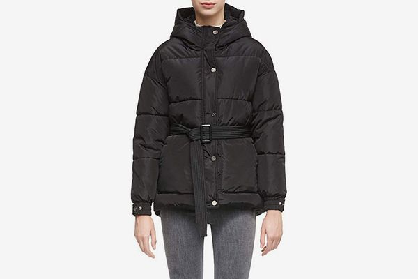 Orolay Women's Short Hooded Coat with Removable Belt