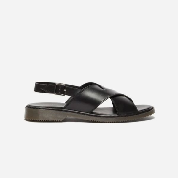 A.P.C. Lois Crossover-Strap Leather Sandals