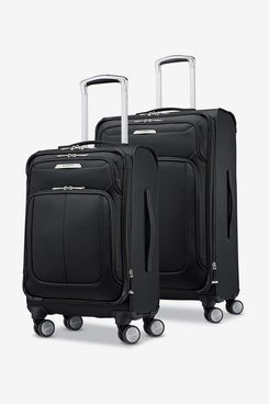 Samsonite Solyte DLX Softside Expandable Luggage With Spinner Wheels, Midnight Black 2-Piece Set