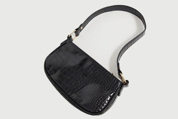 ASOS DESIGN Croc Effect 90s Shoulder Bag