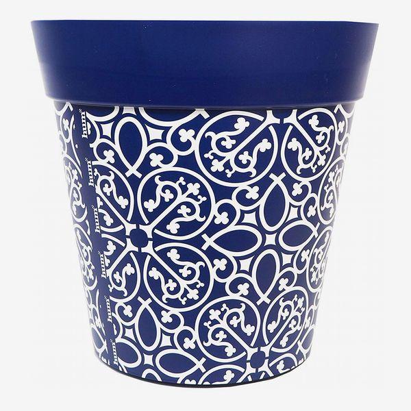 Hum Blue Lattice Flowerpot