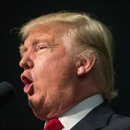 GOP Presidential Candidate Donald Trump Campaigns In Indianapolis