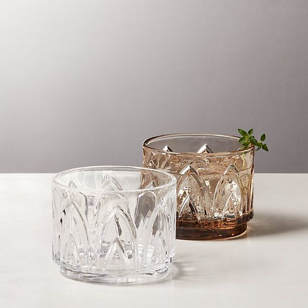 CB2 Buchanan Stacking Double Old-Fashioned Glasses