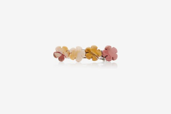 Timeless Pearly Floral Mother-Of-Pearl Hair Barrette