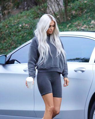 a30308a55a Paris Hilton Dressed Up As Kim Kardashian for Yeezy Season 6