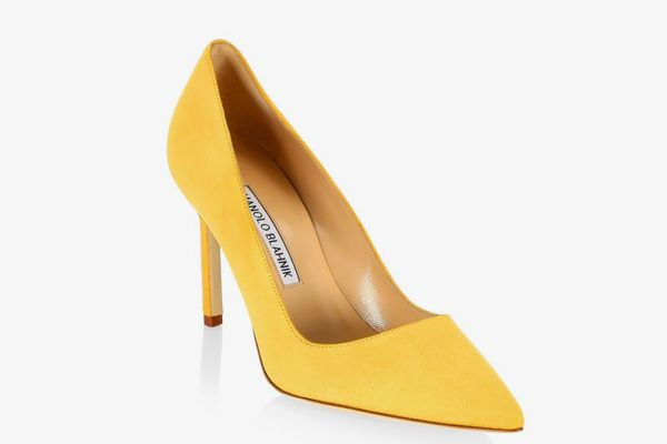 Manolo Blahnik BB90 Suede Point Toe Pumps