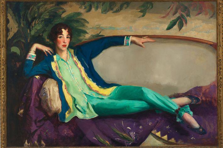 A 1916 portrait of Gertrude Vanderbilt Whitney by Robert Henri.