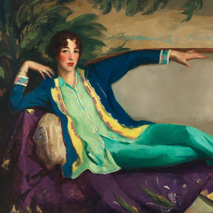 A 1916 portrait of Gertrude Vanderbilt Whitney by Robert Henri.