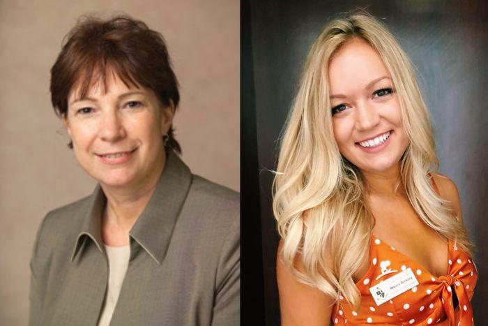 Dr. Nancy Van Vessem and Maura Binkley