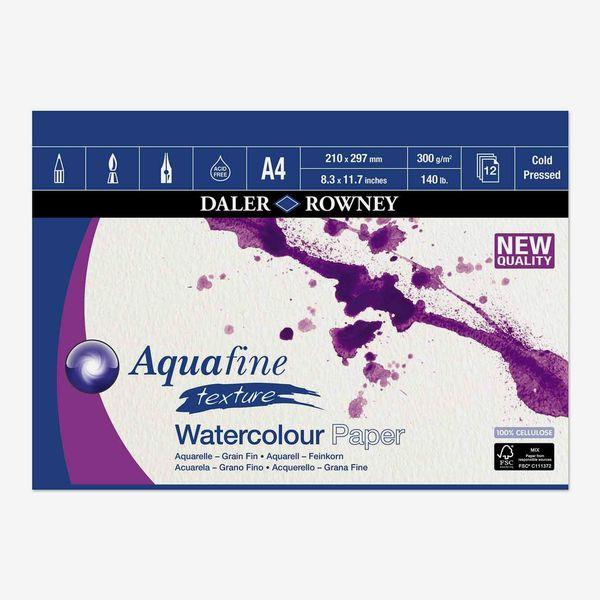 Daler Rowney Aquafine aquarelle artists watercolour pad A4 12 sheets