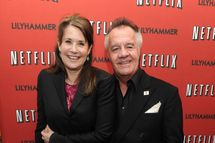 "NEW YORK - FEBRUARY 01:  Actress Lorraine Bracco and actor Tony Sirico attend the North American Premiere Of ""Lilyhammer"", a Netflix Original Series at Crosby Street Hotel on February 1, 2012 in New York City.  (Photo by Jason Kempin/Getty Images for ID-PR)"