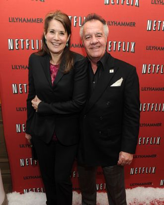 NEW YORK - FEBRUARY 01: Actress Lorraine Bracco and actor Tony Sirico attend the North American Premiere Of