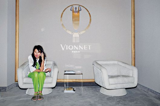 ITALY. Milan. 2015. Goga Ashkenazi the Chairwoman and creative Director of the fashion label Vionnet. Goga in the Vionnet atelier.