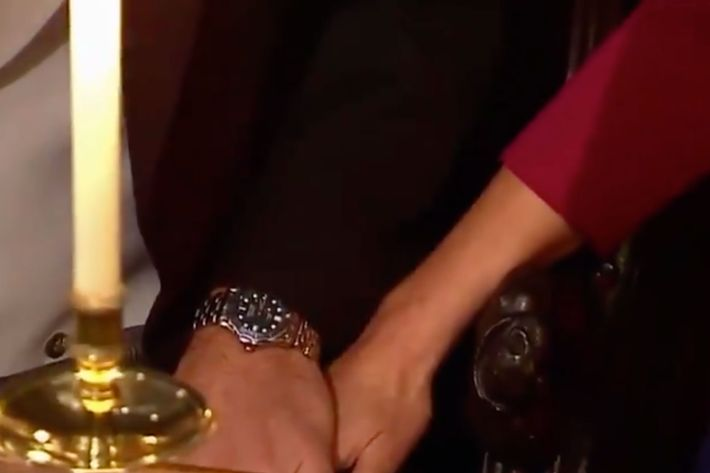 Prince William and Kate Middleton hands.
