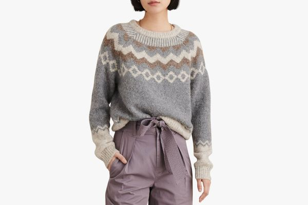Alex Mill Fair Isle Wool Blend Sweater