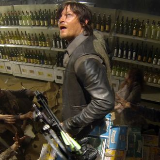 Daryl Dixon (Norman Reedus) and Walkers - The Walking Dead - Season 4, Episode 1 - Photo Credit: Gene Page/AMC