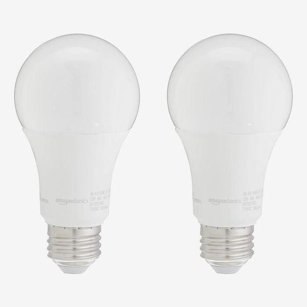 AmazonBasics 100W Equivalent, Soft White, Dimmable, 10,000 Hour Lifetime, A19 LED Light Bulb