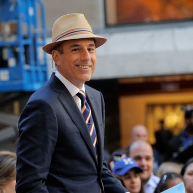 """NEW YORK, NY - JUNE 03:  Co-anchor of NBC's TODAY show Matt Lauer onset at NBC's """"Today"""" at Rockefeller Center on June 3, 2011 in New York City.  (Photo by Jemal Countess/Getty Images)"""
