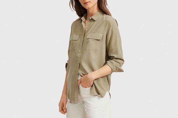 Everlane Washable Silk Relaxed Shirt