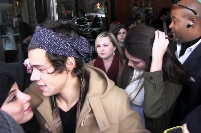 Harry Styles and Kendall Jenner step out of hotel together in New York City.
