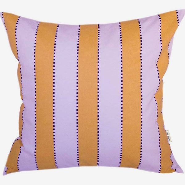 TangDepot Decorative Handmade Stripe Cotton Throw-Pillow Cover, 16