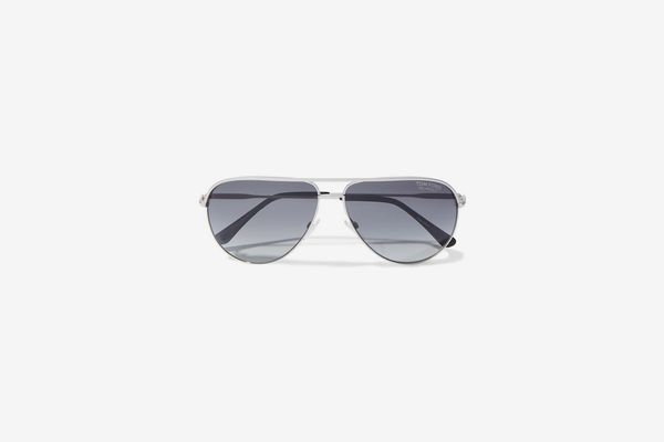Tom Ford Erin Aviator-style Silver-tone Sunglasses