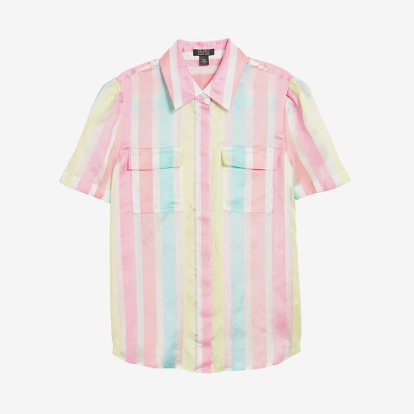 Halogen x Atlantic-Pacific Stripe Utility Shirt