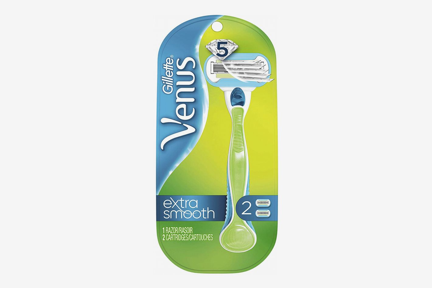 Gillette Venus Extra Smooth Green Women's Razor - 1 Handle + 2 Refills